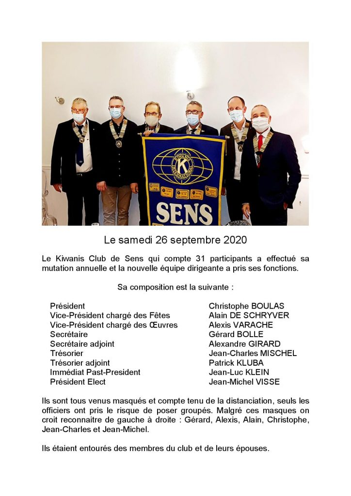 Bureau Kiwanis Sens 200926